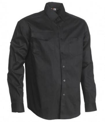Nemon overhemd Herock zwart voorzijde